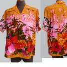 Vintage  Mens Hawaiian Made in Hawaii 70's SS shirt Bright colors