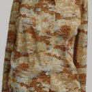 VTG Womens Long sleeve Shirt Top Sx 8 Donovan Galvani Texas  Print Blouse shirt