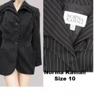 Womens Vintage Blaer jacket SZ 10 Norma Kamali Jacket Black White stripe