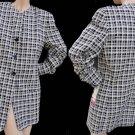 Womens jacket Escada Saks Fifth Ave jacket  NWT Sz 12 Black White Silk