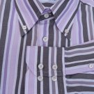 Carolina Herrara Shirt Mens button collar 16 LS Stripes Cotton Muted colors
