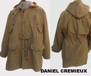 Mens Cotton Khaki hood jacket lined Drewstring waist Daniel Cremieux M to Large Chic
