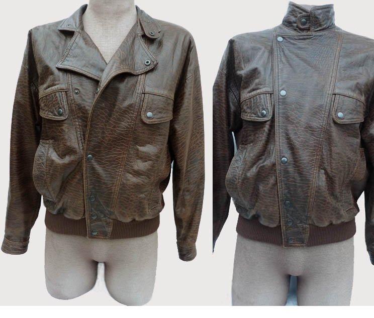 Mens Leather Michael Hoban North Beach M Tan black