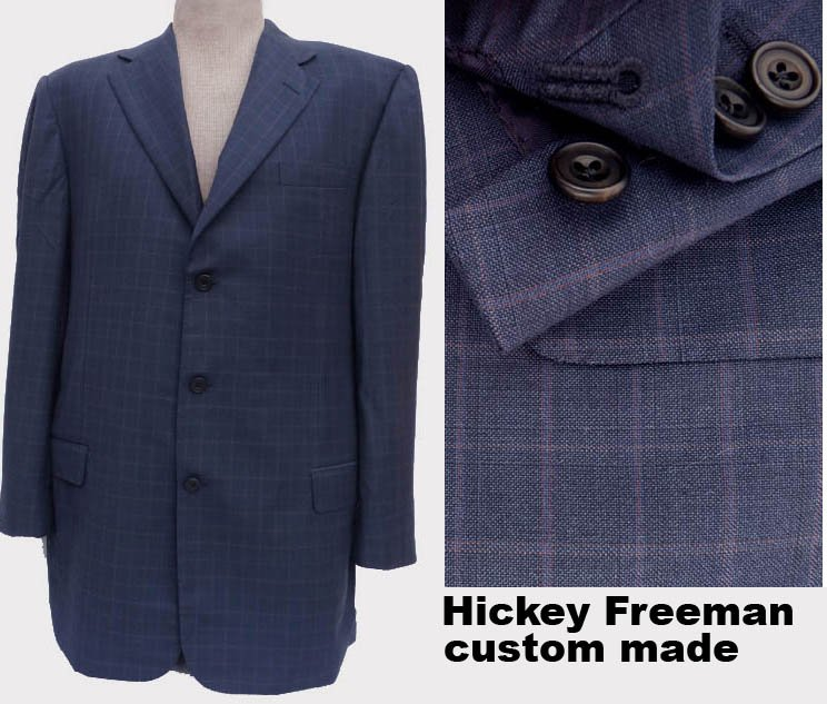 SOLD Hickey Freeman Blazer Sport coat 42-43 Custom made 3 button