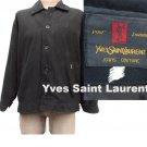 Yves Saint Laurent Couture Mens VTG 60s Classic Jeans Black Coat Jacket