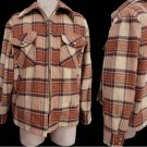 VTG Mens jacket plaid outerwear SZ 46 Wool McGregor 1950s Plaid 46 Lined Wool  Beige tan Red
