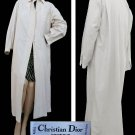 Vtg Womens coat Christian Dior Boutique Silk Rain all weather Trench 80s France Light weight
