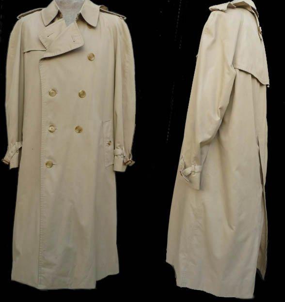 Burberrys Mens All weather  trench coat 44 long Khaki Removable Zippered Nova  lining