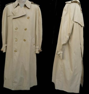 Burberrys Mens All weather  trench coat 44 long Khaki Removable Zippered Nova  lining