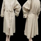 VTG Womens Trench coat Guy Laroche All weather Euro 36 Bust  46 Light khaki France