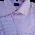 Paul Smith Shirt Dress long sleeve 17 French Cuffs White Rose Stripes