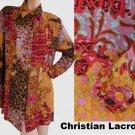 Christian Lacroix Bazar Shirt Top long sleeve Blouse 14 Heart Flowers