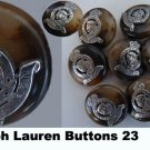 Ralph Lauren Blazer Replacement Buttons 22 Leopard Crown Silver metal plastic