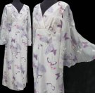 VTG Alfred Shaheen California Hawaii MAXI dress Bell Bat wing sleeves Butterflies Bold colors