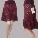 Free People Skirt Womens Crochet NWT Sz M Hipster crochet Knit silk