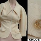 Womens CHLOE Jacket Bergdorf Goodman top Cropped Rayon Cotton 36