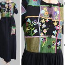 Michael Simon Dress M NWT Embroidery Applique  Long ankle lenth