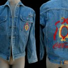 Coca -cola Mens Denim Jacket Embroidered  M – L  Two chest pockets