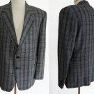 Vintage mens Blazer Noel Confezioni Marzotto Italia 42 Blazer Sportcoat  Plaid 2 Button