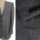 Christian Dior Monsieur Blazer Sportcoat 44L 2 button Gray black stripe