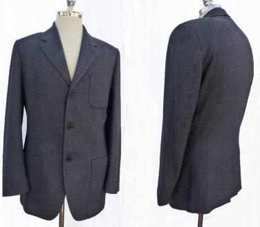 Mens Designer Blazer Elie Tahari 40 Sportcoat 3 button Open pockets Italy