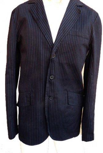 Tripp jacket blazer S Mens Striped  Black Blue stripes Cotton