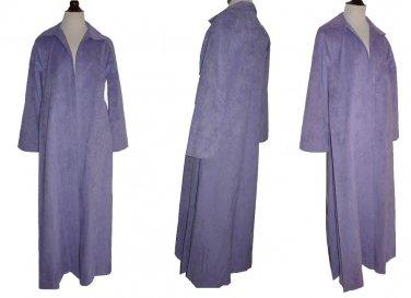 John Hogan maxi coat Samuel Robert 70s Vintage Robe 10 NOS SUEDE
