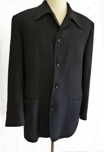 Mens Jacket Shirt coat Black Mondo di Marco Blazer 42 Long 44 button SB 5 Button light outer coat