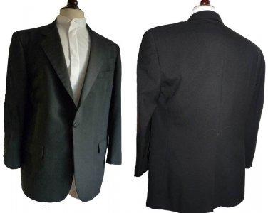 Mens Vintage 1970s Tux Dinner Jacket Givenchy Monsieur Black 42 Union Made USA