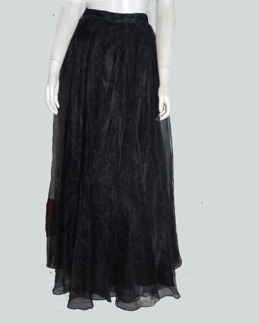 Lillie Rubin Evening Circle Silk Chiffon skirt 1970s The Gilberts Tally N Y Full length