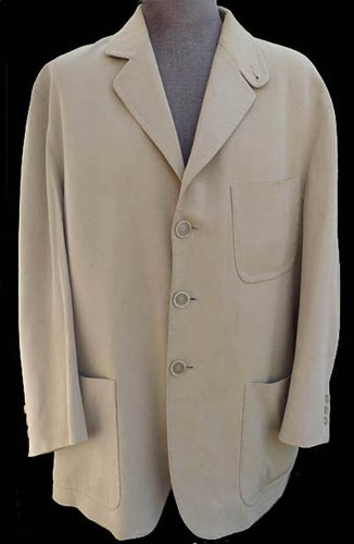 Kiton Ultimo blazer sportcoat Surgeopns cuff Khaki Tan 46 Wool cotton Italy