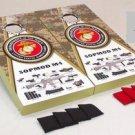 U.S.M.C. Sopmod M4 Cornhole Game Set Marines 2 Boards 8 Bags Corn Hole Bag Toss