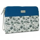 "Tablet Case for Microsoft Surface Pro 3 Blue Floral 13.5"" W x 9.5"" H"