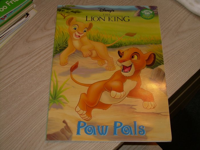 LION KING COLORING BOOK-PAW PALS W/STICKERS