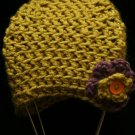 Ashton- crocheted hat with flower 6-15months