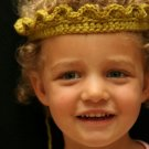 Crocheted Tiara/Crown in green size 1-5 years old