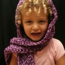 Maine - crocheted scarf with hood and sunflower  1-5