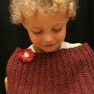 New Mexico - crocheted burgundy wrap/capelet 2T-3T