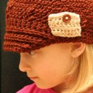Ethan - crocheted hat with pocket  2T-4T