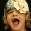 Fiona - crocheted hat with flower 2T-3T