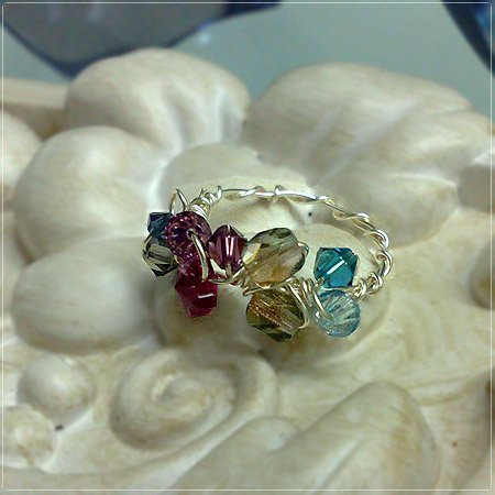 Handmade Wire-wrapped Pink Hue Ring