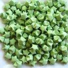 100pcs Green Origami Lucky Stars, Paper Goodies, Good Luck, Lucky Stars