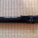 Straight Piano Lacquered Black Saya Scabbard for Japanese Samurai Tanto Sword