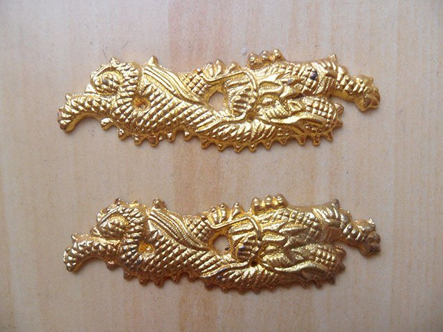 Dragon Menuki Ornament for Japanese Samurai Katana / Wakizashi / Tanto Sword