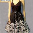 Trixxie black white cotton halter dress size 3 small