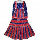 American Pie Sue Brett junior maxi dress patriotic XXS