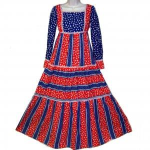 American Pie Sue Brett junior maxi dress patriotic XXS