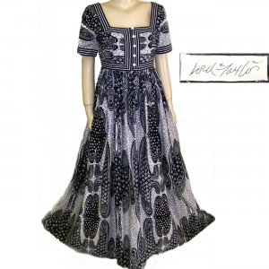 Bold 70s Abstract maxi dress Lord & Taylor small