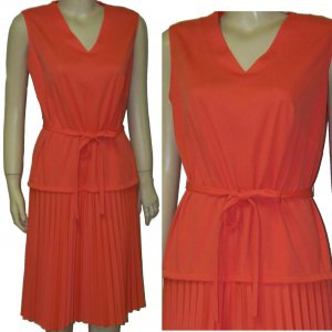 70s Tangerine dream summer dress medium pleated