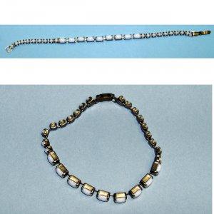 vintage bracelet white stones 50s